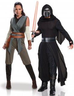 Star Wars™-Paarkostüm Rey™ und Kylo Ren™ schwarz-grau-braun