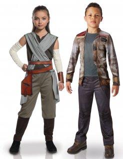 Star Wars™-Kinderpaarkostüme Rey und Finn Lizenzartikel bunt