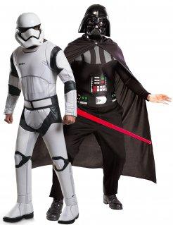 Star Wars™-Paarkostüm Stormtrooper™ und Darth Vader™ schwarz-weiss