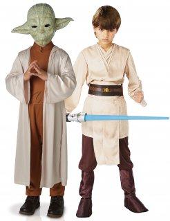 Star Wars™-Kinderpaarkostüm Yoda™ und Jedi braun-bunt