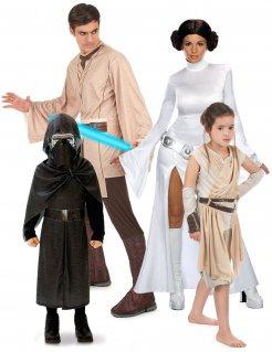 Star Wars™-Gruppenkostüm Familienkostüm schwarz-braun-weiss