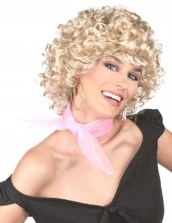 50er-Jahre-Perücke gelockt Kostüm-Accessoire blond