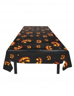 Kürbis-Tischdecke Halloween-Dekoration schwarz-orange 120x180 cm