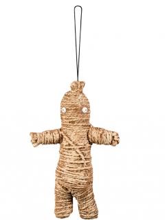 Voodoo Puppe Halloween Accessoire braun 33cm