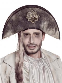 Piratenhut Geisterpirat Halloween-Accesoire grau-braun