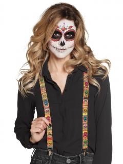 Mexikanische Hosenträger Día de los Muertos Halloween-Accessoire bunt