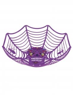Obstschale Süßigkeitenschale Día de los Muertos Halloween-Dekoration violett 25cm