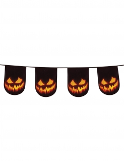 Kürbisgirlande Halloween-Dekoration schwarz-orange 6m
