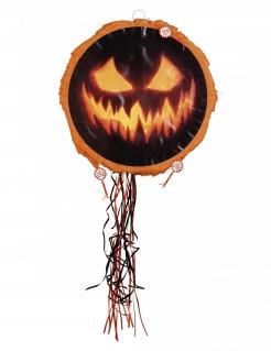 Kürbis-Piñata Halloween-Dekoration schwarz-orange 40cm