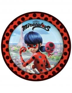 Ladybug™-Papierteller Kindergeburtstag 8 Stück bunt 23cm