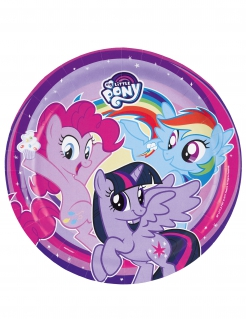My Little Pony™-Pappteller 8 Stück Deko violett 23cm
