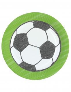 Fußball-Pappteller 8 Stück bunt 23 cm