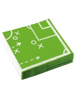 Fußball-Servietten 20 Stück grün 33 x 33 cm