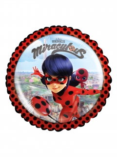 Ladybug™-Folienballon Lizenzartikel rot-bunt 23cm