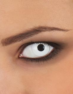 Kontaktlinse mit Dioptrien Halloween-Zubehör weiss