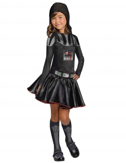 Darth Vader™ Star Wars™ Kostüm für Kinder Halloween schwarz