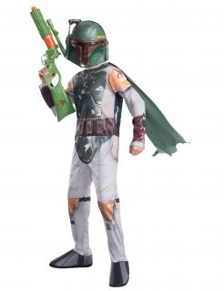 Boba Fett™ Kostüm für Kinder Star Wars™ Karneval weiss-grün-gold