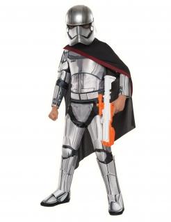Captain Phasma™-Kostüm für Kinder Star Wars™ Karneval grau-schwarz