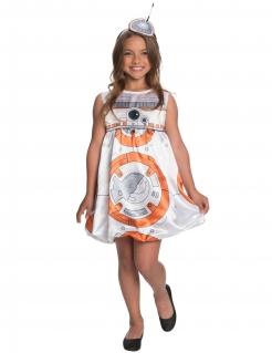 BB-8™-Kostüm für Mädchen Karneval weiss-orange