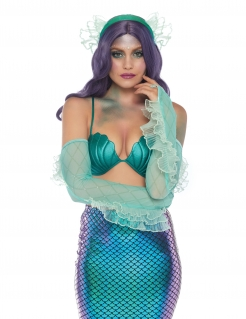 Meerjungfrauen-Set für Damen grün-blau
