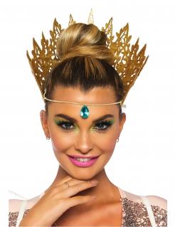 Königinnen-Krone für Damen Kostümzubehör gold