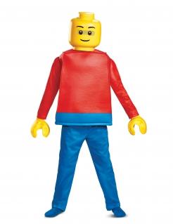 Lego™-Männchen Kinderkostüm Fasching blau-rot-gelb