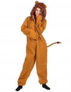 Löwen-Kostüm für Damen Faschingskostüm braun