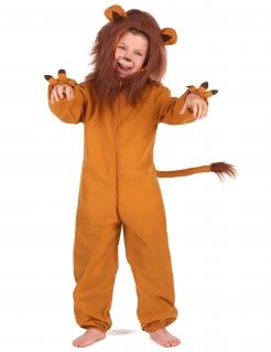 Löwe-Kostüm für Kinder Karneval braun