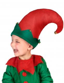 Wichtel-Hut mit Glocken für Kinder Weihnachts-Accessoire rot-grün