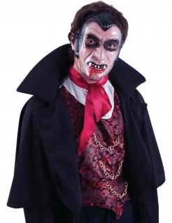 Vampir-Maske Halloween-Zubehör hautfarben-schwarz