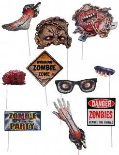 Zombie-Fotoset 10 Stück bunt