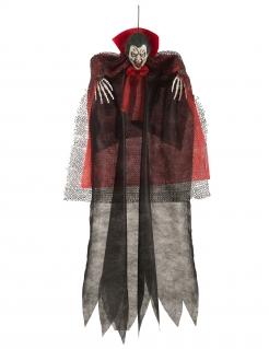 Vampir-Hängedekoration Halloween schwarz-rot