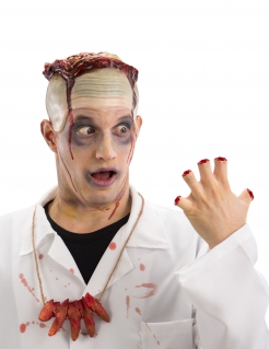 Abgehackte-Finger-Halskette Halloween-Accessoire rot