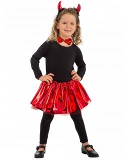Teufel-Kostümset für Mädchen schwarz-rot