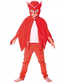 PJ Masks™-Kinderkostümset Eulette Maske und Umhang rot