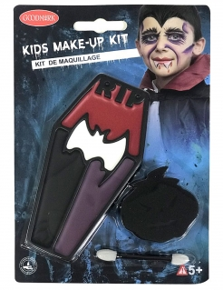 Vampirschminkset für Kinder Halloween-Makeup 3-teilig schwarz-rot