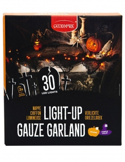 Lichterkette Innendekoration Halloween-Deko 30 LEDs orange