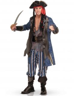 Luxus-Piratenkostüm für Herren grau-blau