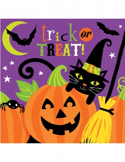 Servietten Trick or Treat Happy Halloween 16 Stück bunt 33x33cm
