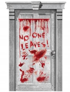 Blutige Tür Halloween-Dekoration rot 165x85cm