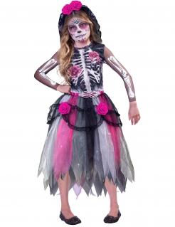 Tag der Toten-Kinderkostüm Halloween bunt