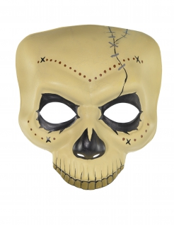 Skelettmaske Día de los Muertos Halloween-Accessoire weiss-schwarz