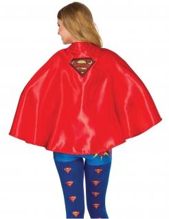 Supergirl™-Umhang für Damen Kostüm-Accessoire rot-gelb