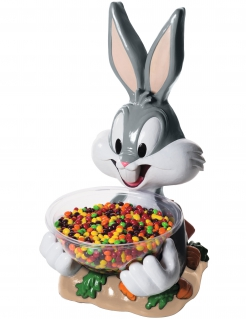 Bugs Bunny™-Bonbonhalter Tischdeko grau-weiss 45cm