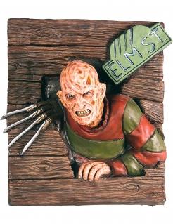 3D Wandbild Freddy Krüger™ Halloween braun-grün 61x74cm