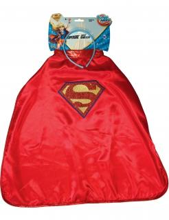 Supergirl™-Umhang und Haarreif für Mädchen Accessoire-Set Super Hero Girls™ rot-blau