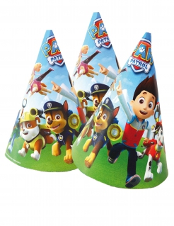 Paw Patrol™-Geburtstagshüte 6 Stück bunt 16x11cm