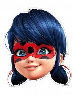 Ladybug™-Pappmasken Miraculous™-Partymasken für Kinder blau 6 Stück 23x21cm