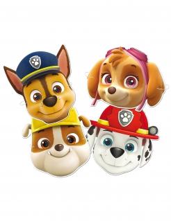 Paw Patrol™-Pappmasken Tiermasken für Kinder 6 Stück bunt