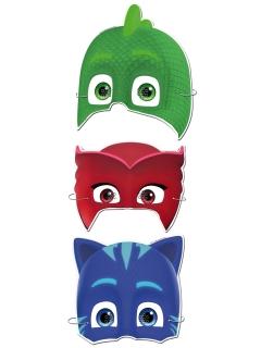 PJ Masks™-Pappmasken Pyjamahelden™-Masken 6 Stück bunt